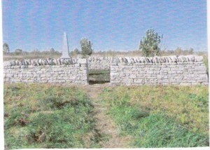 new entrance into warewebb cemetery