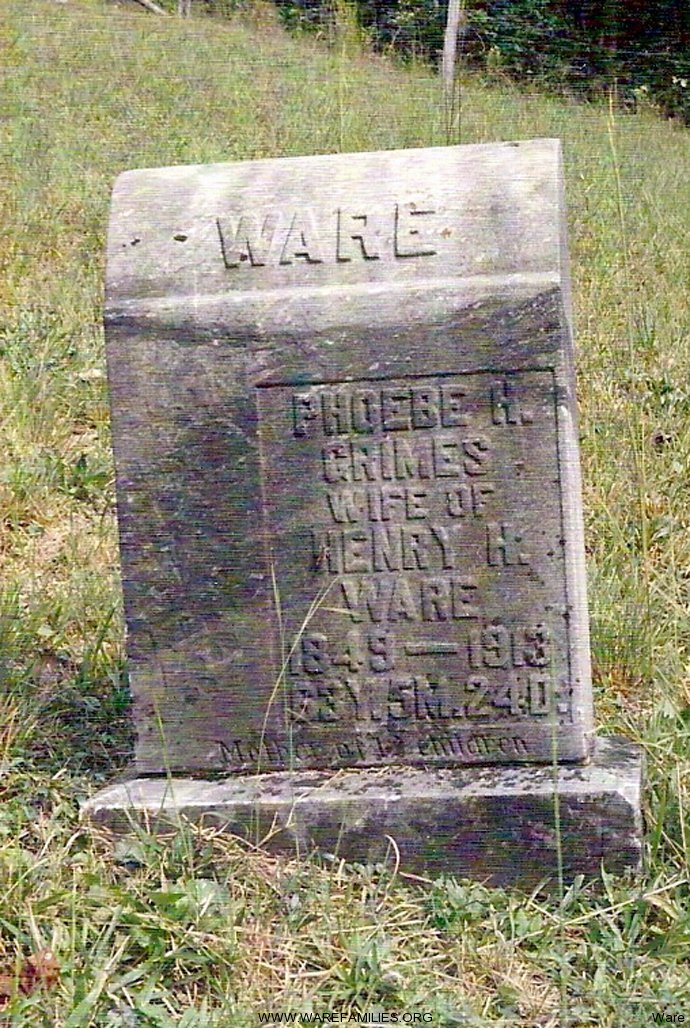 Phoebe H. Grimes Ware