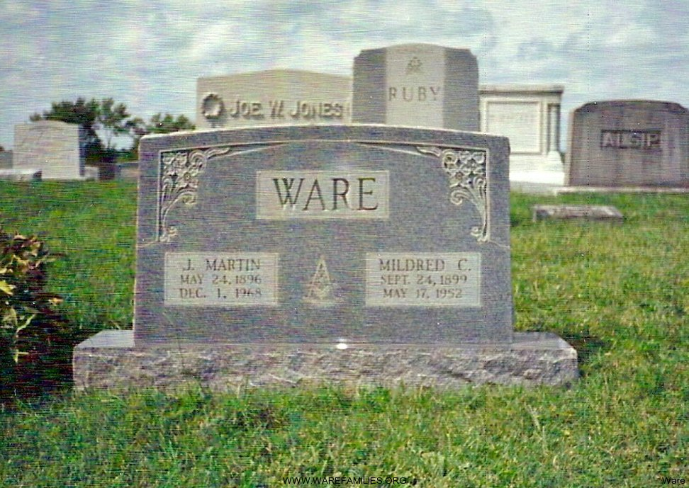 Jos Martin and Mildred C. Ware