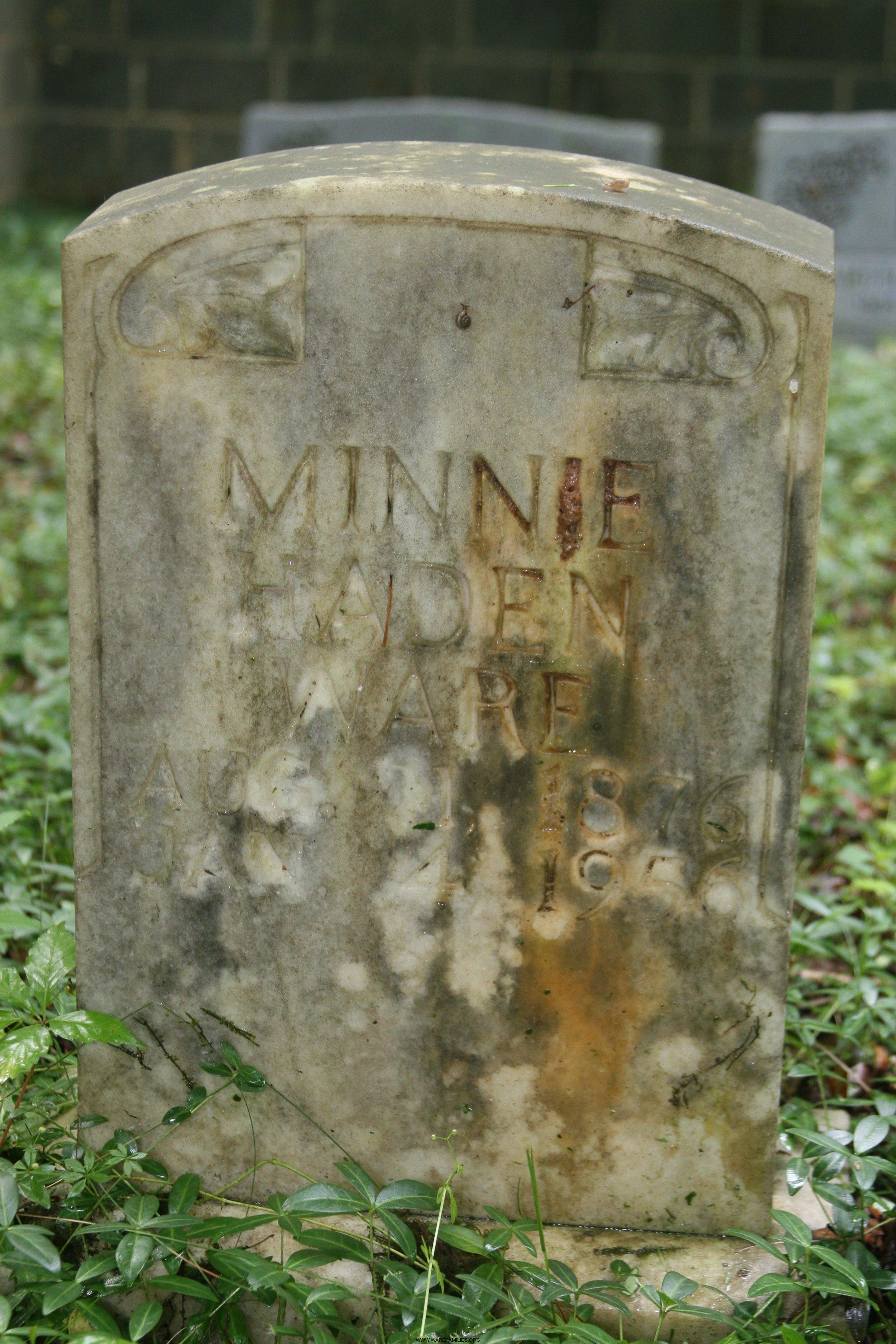 Minnie Haden Ware