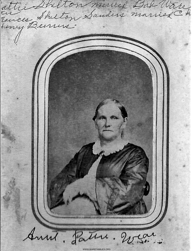Martha Shelton Sanders Ware