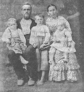 Williams Nicholas Ware, His Wife Amanda Harriet Talley and Children
