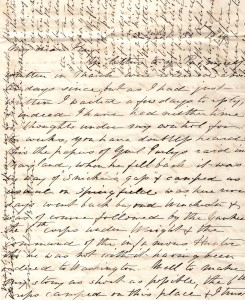 Original letter from Edmonia Ware to Elizabeth A Ware Britton 1864 (1)