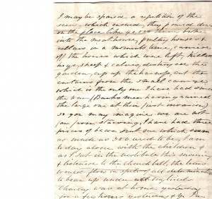 Original letter from Edmonia Ware to EA Ware Britton 1864  - page 2