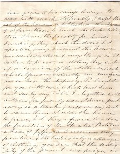 Original letter from Edmonia Ware to Elizabeth Ware Britton 1864 - pg. 3