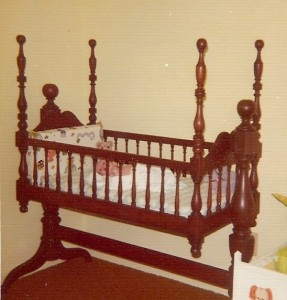 antique cradle