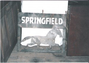 old sign from entrance to Springfield