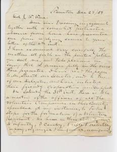 Letter from John Daniel Imboden