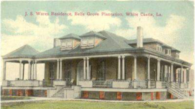 Belle Grove Plantation Louisiana And The Ware Families Who Owned It